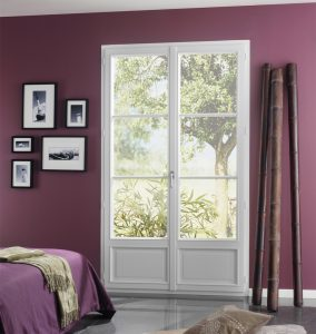 Porte fenêtre 2 vtx PVC Blanc