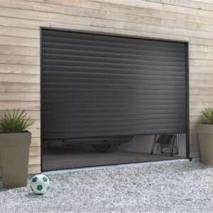 Porte de garage enroulable noir